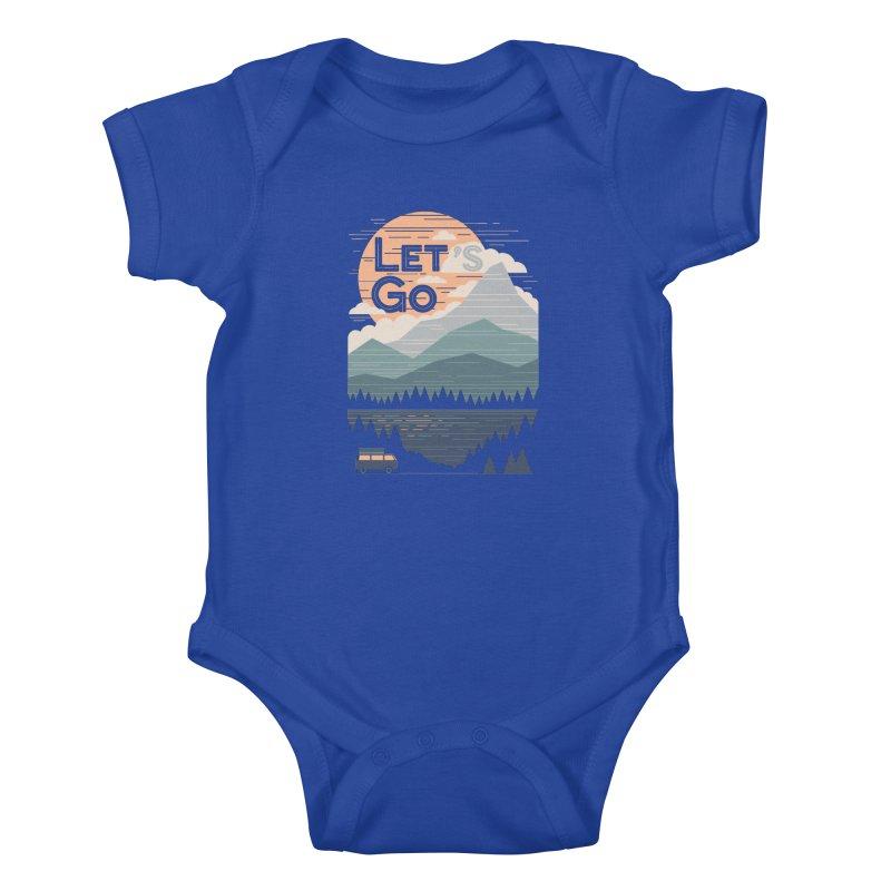 Let's Go Kids Baby Bodysuit by thepapercrane's shop
