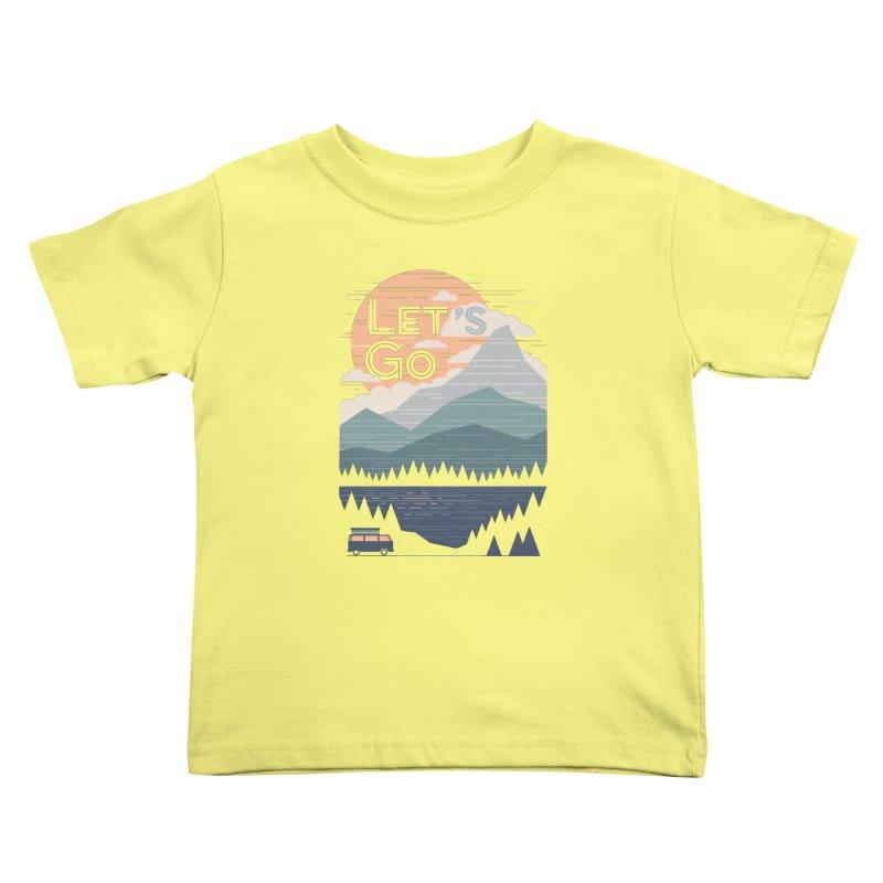 Let's Go Kids Toddler T-Shirt by thepapercrane's shop