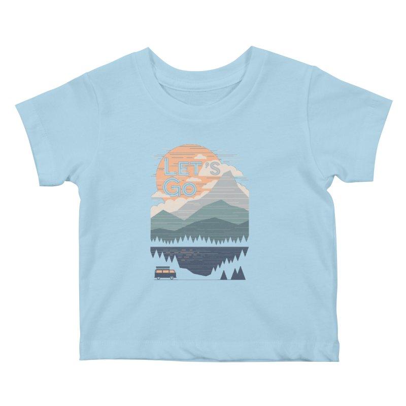 Let's Go Kids Baby T-Shirt by thepapercrane's shop