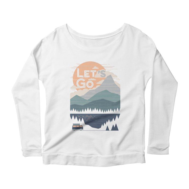 Let's Go Women's Scoop Neck Longsleeve T-Shirt by thepapercrane's shop