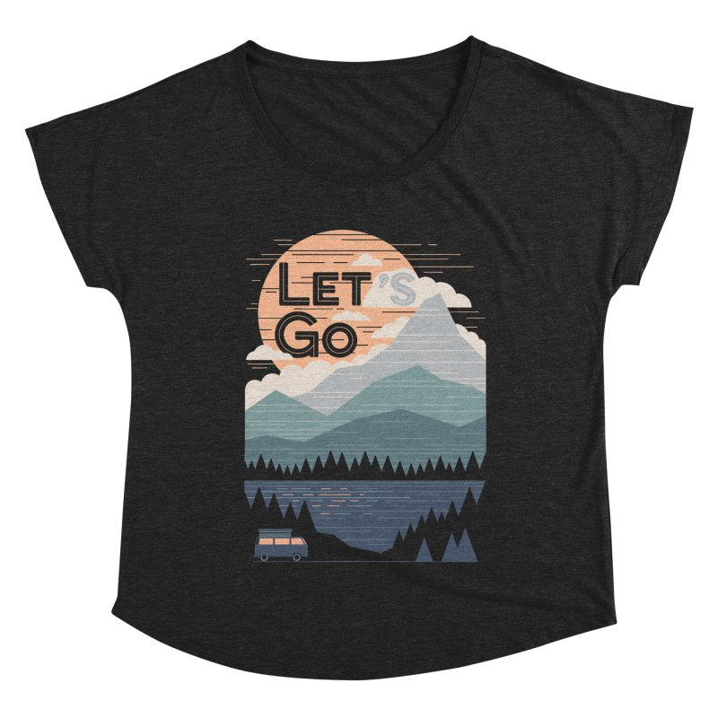 Let's Go Women's Dolman Scoop Neck by thepapercrane's shop