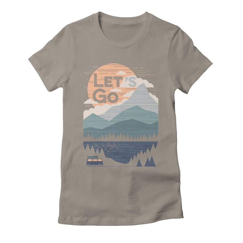 Let's Go Women's Fitted T-Shirt by thepapercrane's shop
