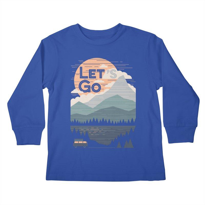 Let's Go Kids Longsleeve T-Shirt by thepapercrane's shop