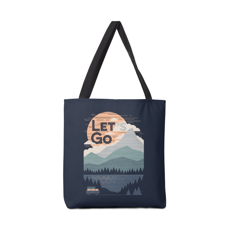 Let's Go Accessories Tote Bag Bag by thepapercrane's shop