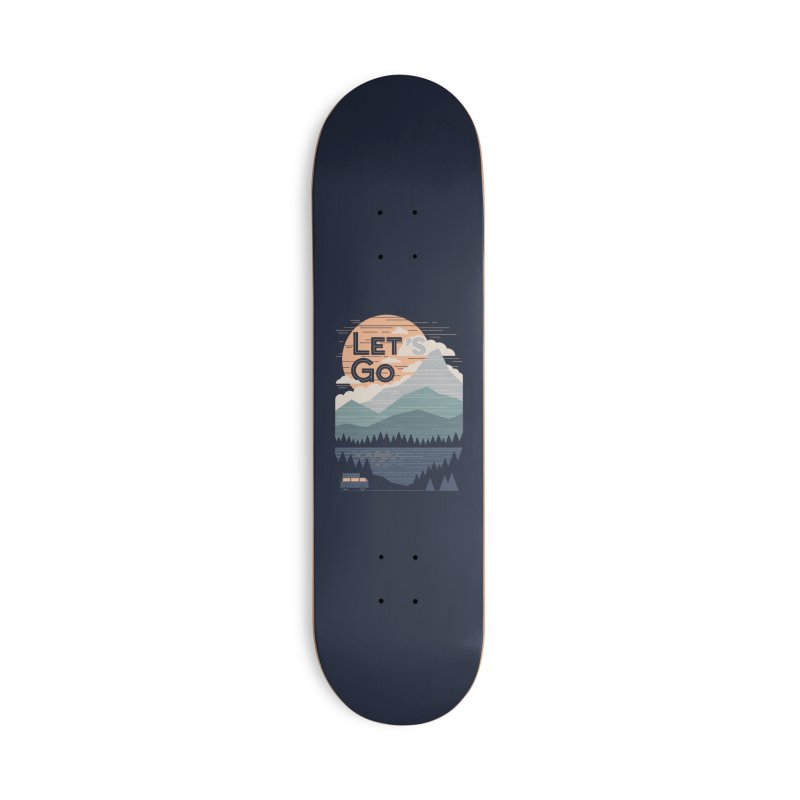 Let's Go Accessories Deck Only Skateboard by thepapercrane's shop