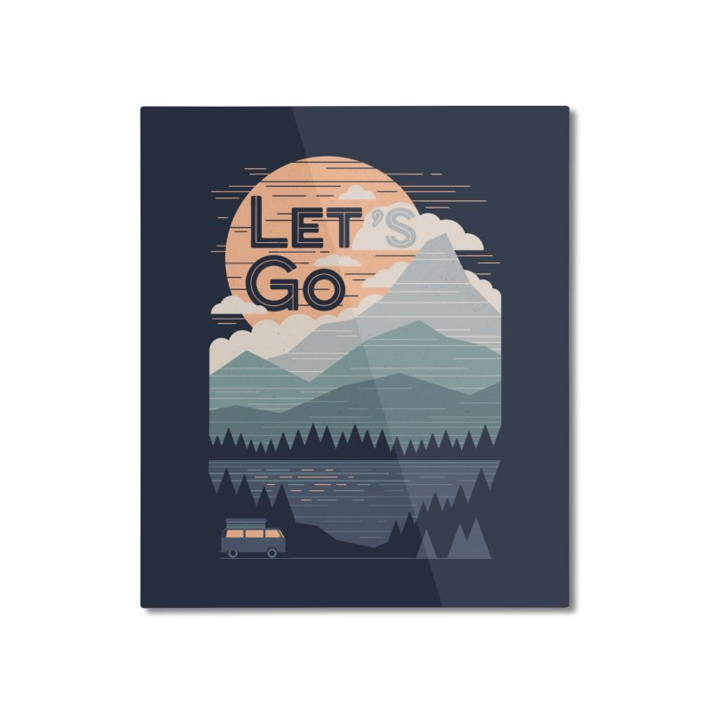 Let's Go Home Mounted Aluminum Print by thepapercrane's shop
