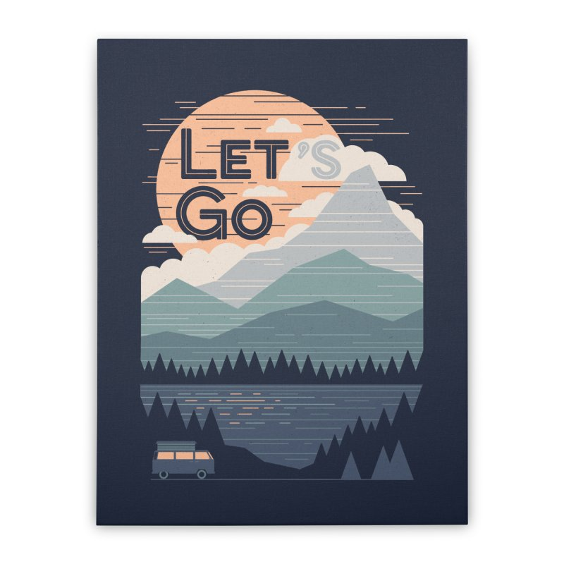 Let's Go Home Stretched Canvas by thepapercrane's shop