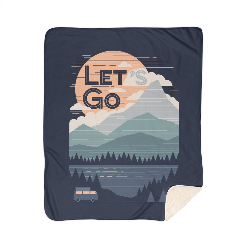 Let's Go Home Sherpa Blanket Blanket by thepapercrane's shop