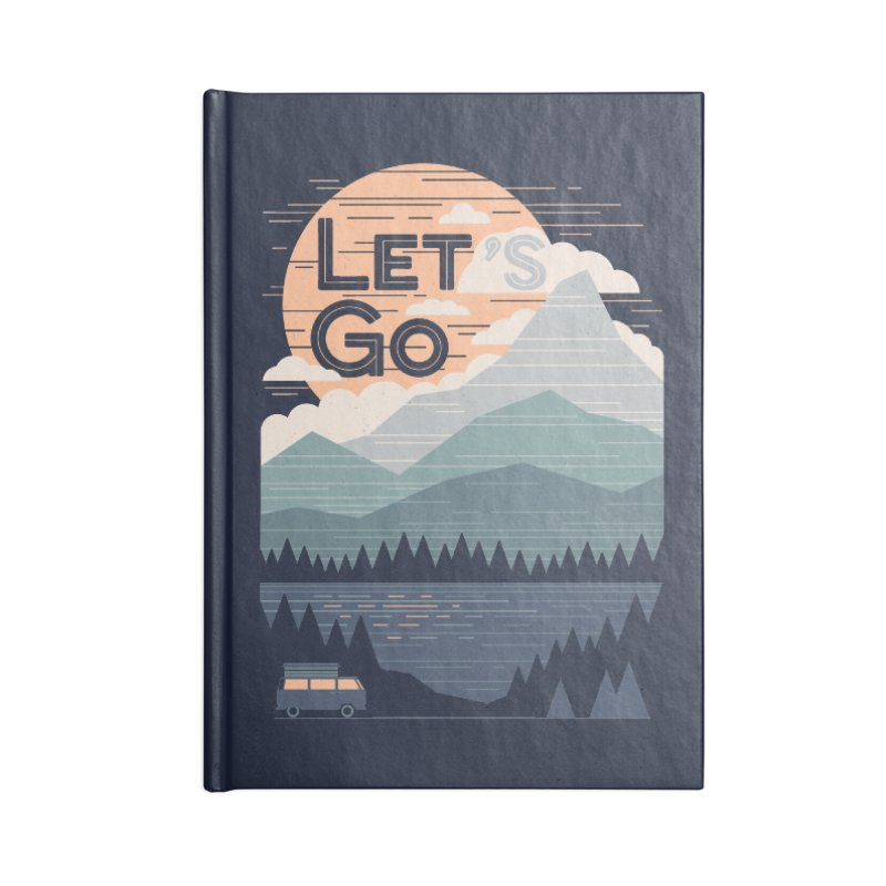 Let's Go Accessories Blank Journal Notebook by thepapercrane's shop