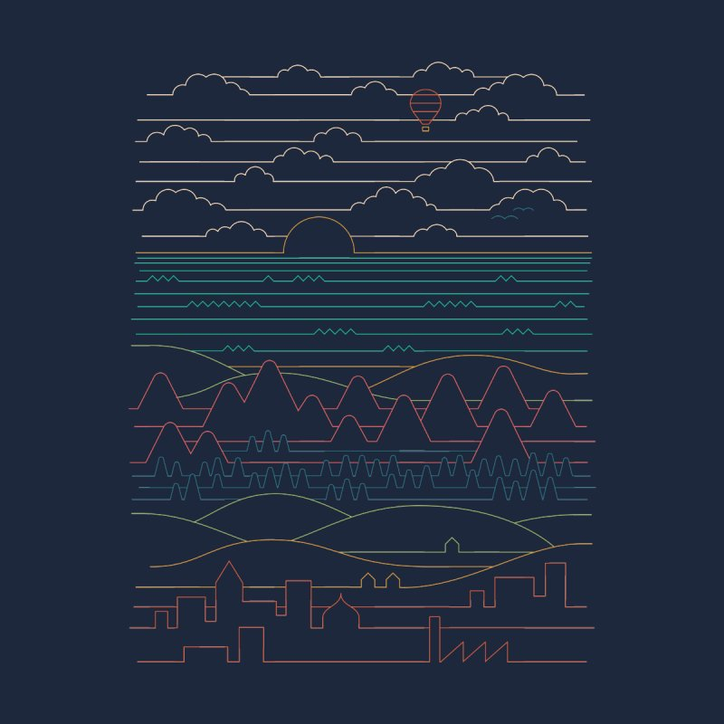 Linear Landscape by thepapercrane's shop