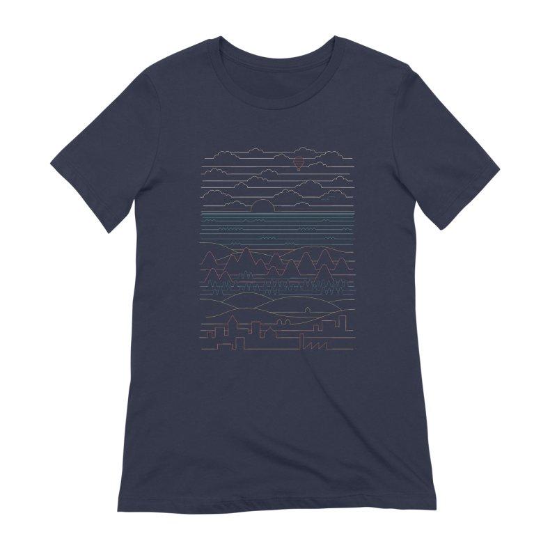 Linear Landscape Women's Extra Soft T-Shirt by thepapercrane's shop
