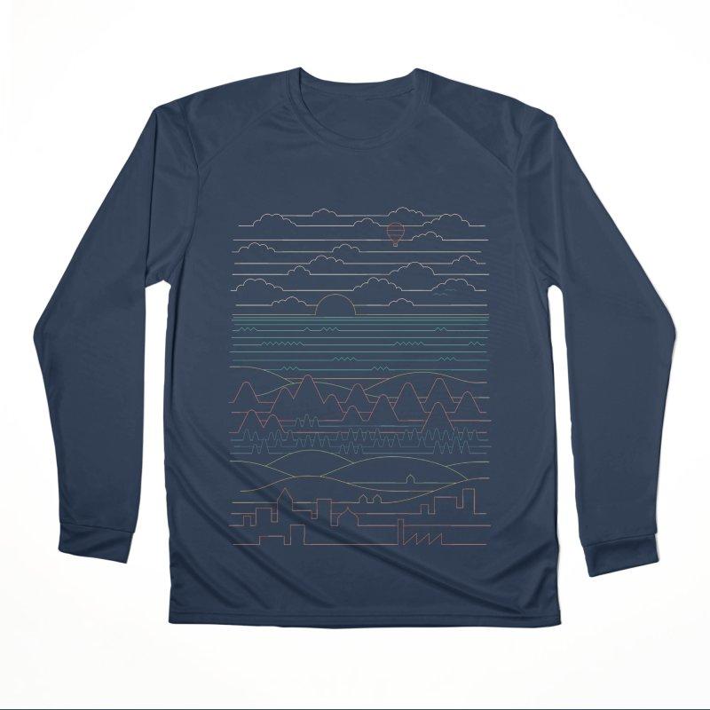 Linear Landscape Men's Performance Longsleeve T-Shirt by thepapercrane's shop