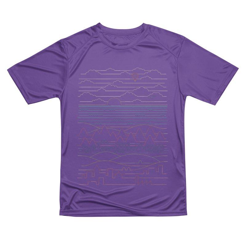Linear Landscape Women's Performance Unisex T-Shirt by thepapercrane's shop