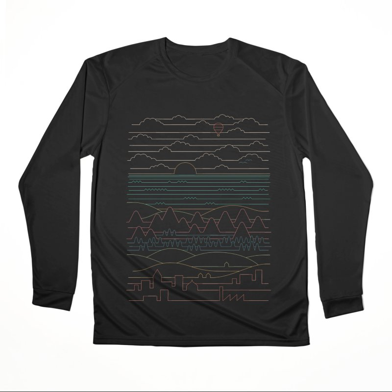 Linear Landscape Men's Performance Longsleeve T-Shirt by thepapercrane's shop