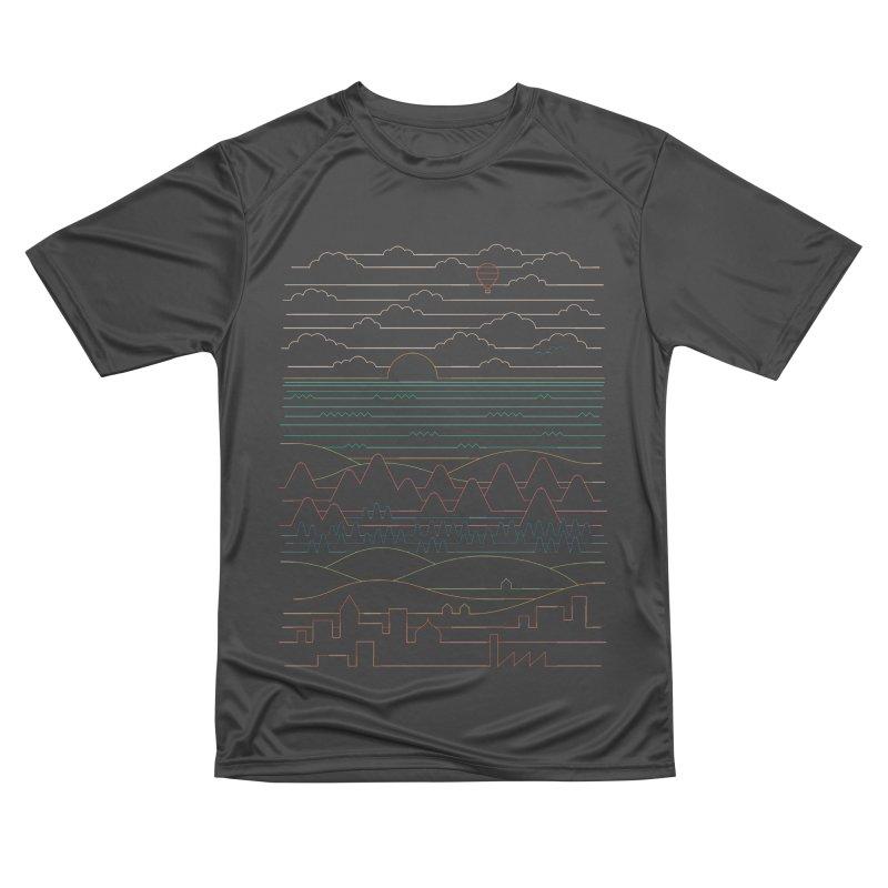 Linear Landscape Men's Performance T-Shirt by thepapercrane's shop