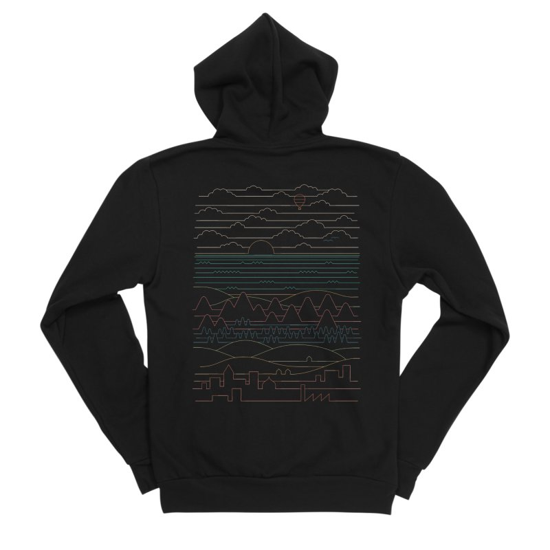 Linear Landscape Men's Sponge Fleece Zip-Up Hoody by thepapercrane's shop