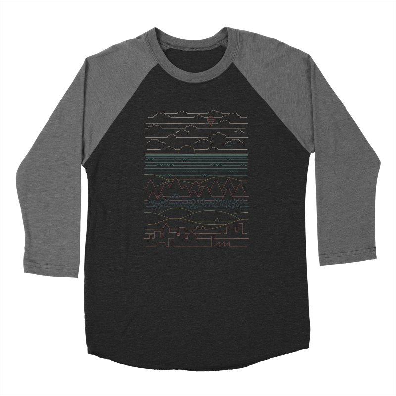 Linear Landscape Women's Baseball Triblend Longsleeve T-Shirt by thepapercrane's shop