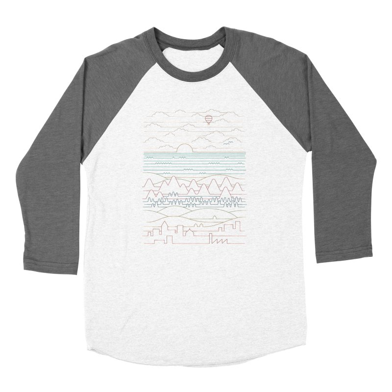 Linear Landscape Men's Baseball Triblend Longsleeve T-Shirt by thepapercrane's shop