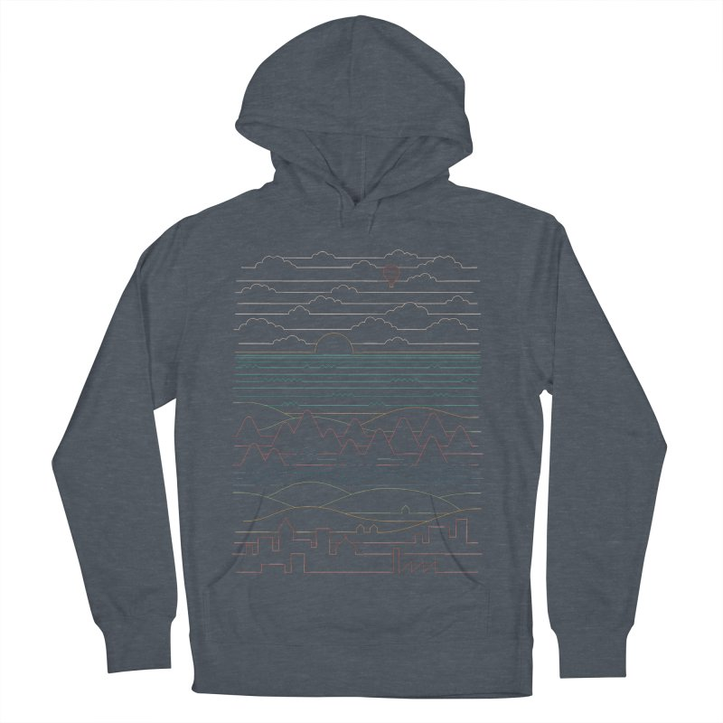 Linear Landscape Women's French Terry Pullover Hoody by thepapercrane's shop