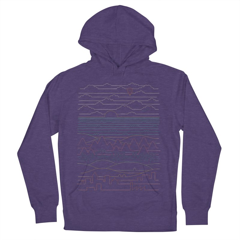 Linear Landscape Men's French Terry Pullover Hoody by thepapercrane's shop