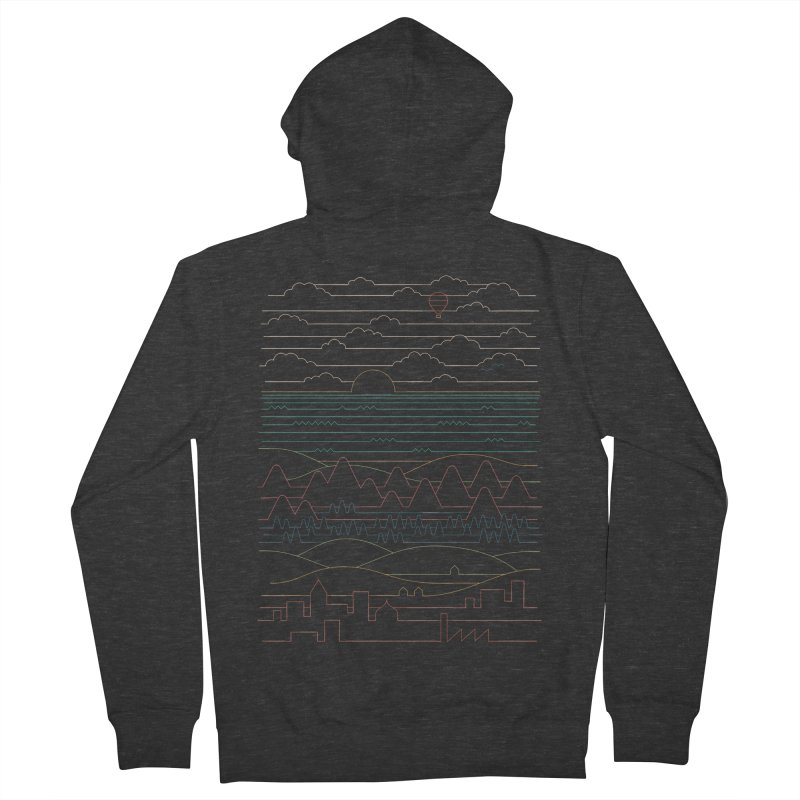 Linear Landscape Women's French Terry Zip-Up Hoody by thepapercrane's shop