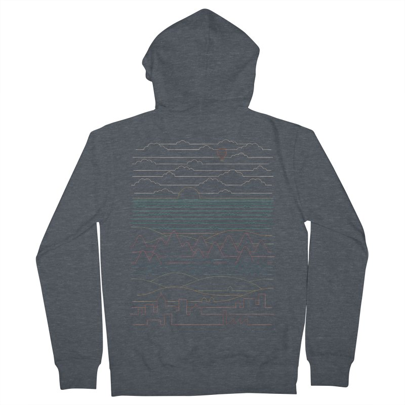 Linear Landscape Men's French Terry Zip-Up Hoody by thepapercrane's shop