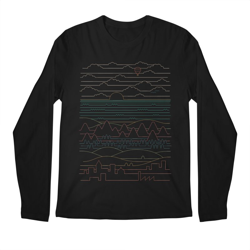 Linear Landscape Men's Regular Longsleeve T-Shirt by thepapercrane's shop