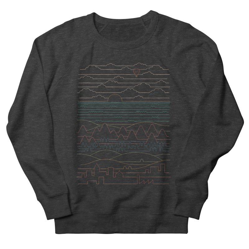 Linear Landscape Women's French Terry Sweatshirt by thepapercrane's shop