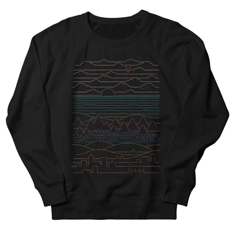 Linear Landscape Men's French Terry Sweatshirt by thepapercrane's shop