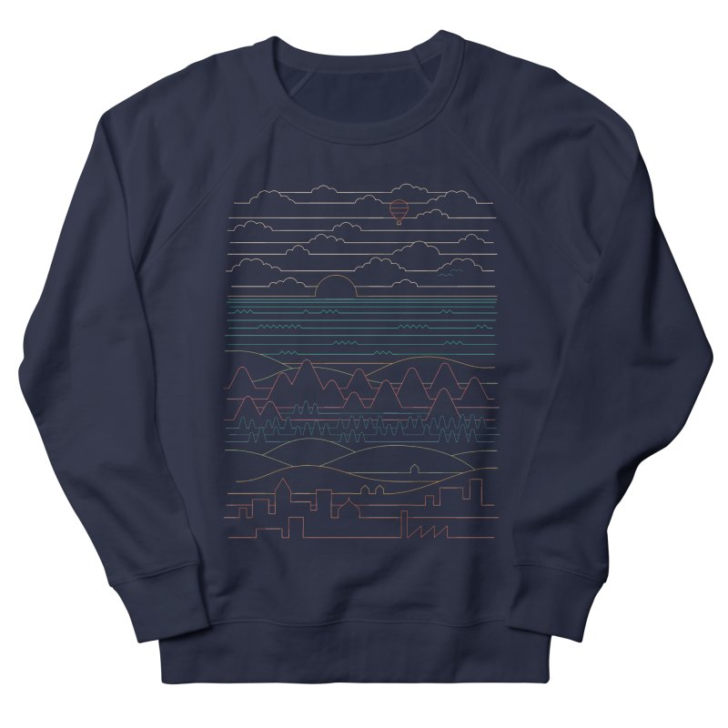 Linear Landscape Men's French Terry Sweatshirt by thepapercrane's shop