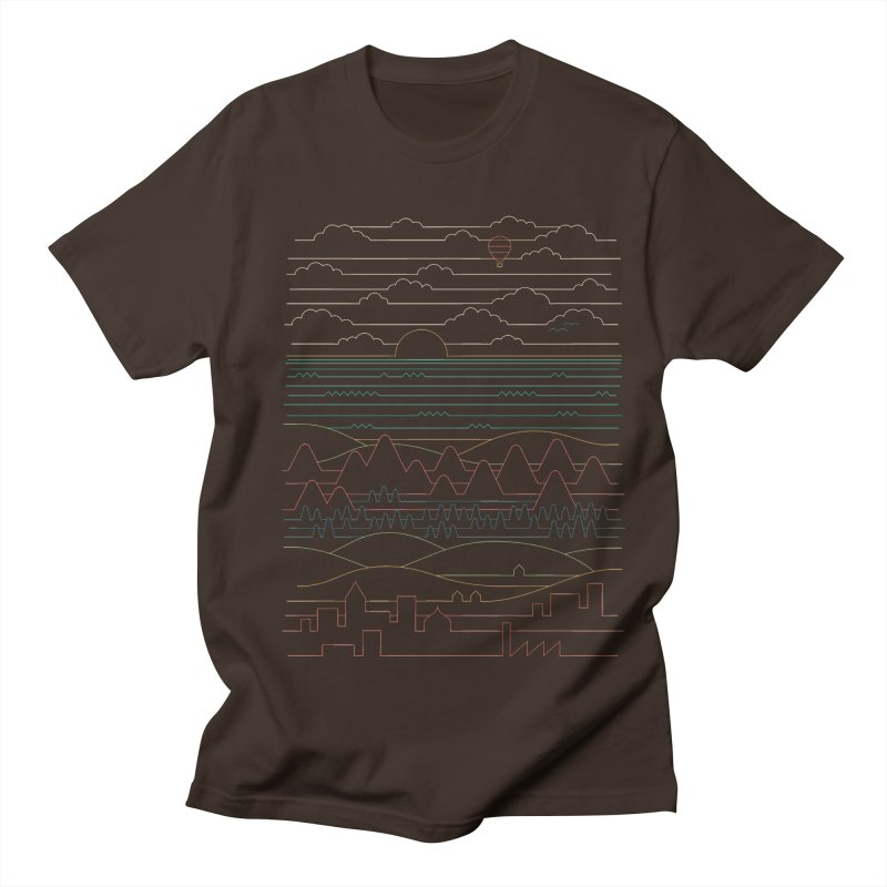 Linear Landscape Men's Regular T-Shirt by thepapercrane's shop