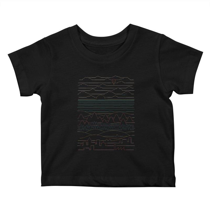 Linear Landscape Kids Baby T-Shirt by thepapercrane's shop