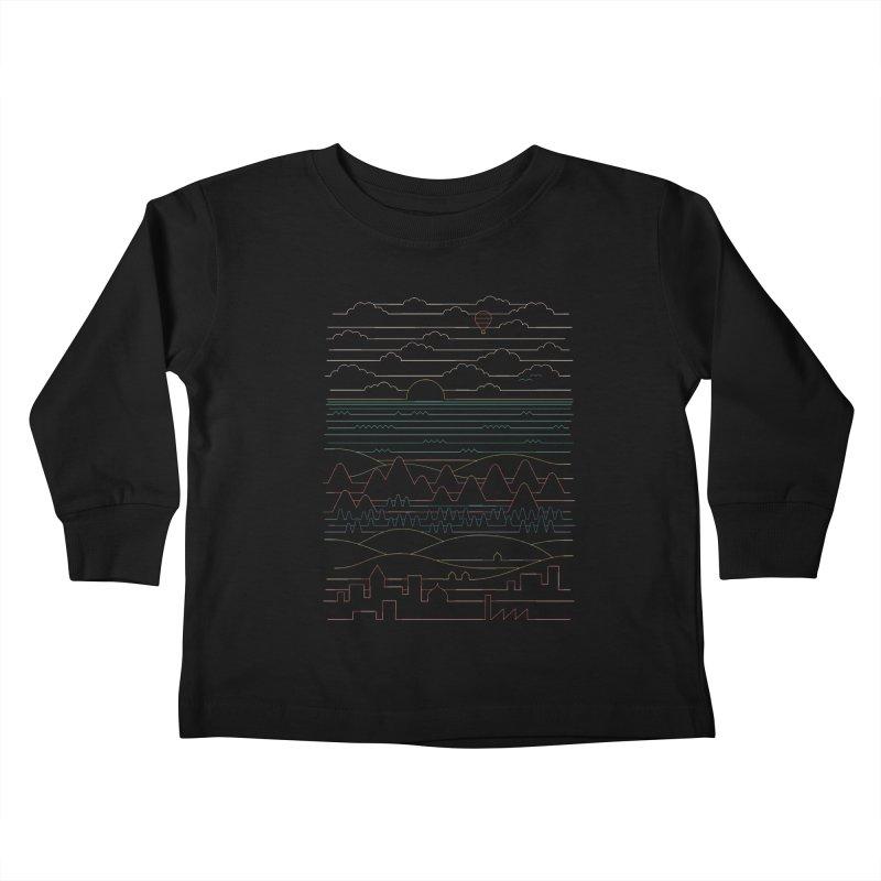 Linear Landscape Kids Toddler Longsleeve T-Shirt by thepapercrane's shop