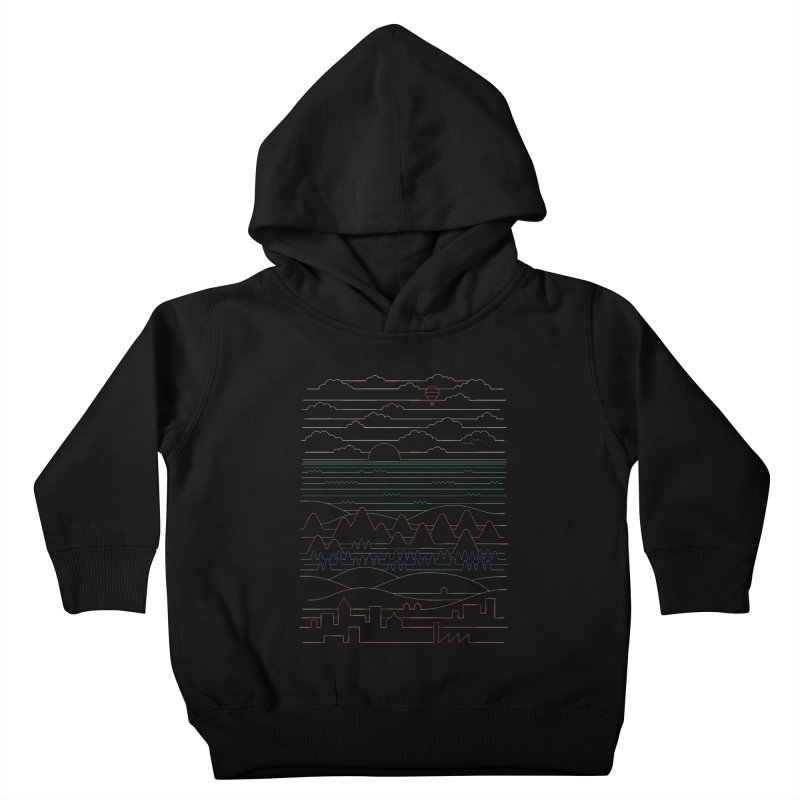 Linear Landscape Kids Toddler Pullover Hoody by thepapercrane's shop