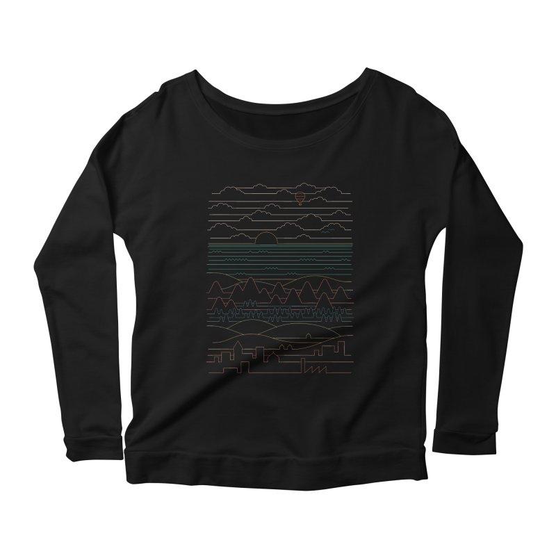 Linear Landscape Women's Scoop Neck Longsleeve T-Shirt by thepapercrane's shop