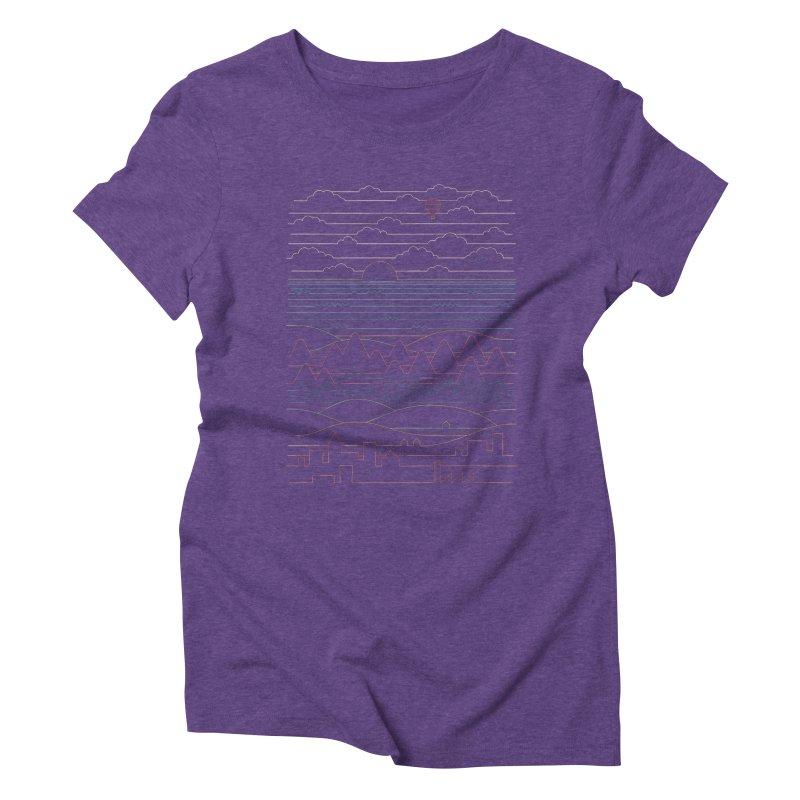 Linear Landscape Women's Triblend T-Shirt by thepapercrane's shop