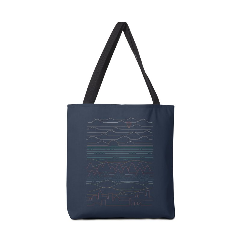 Linear Landscape Accessories Tote Bag Bag by thepapercrane's shop