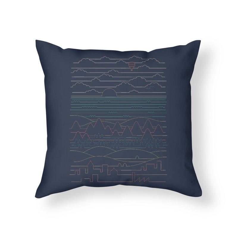 Linear Landscape Home Throw Pillow by thepapercrane's shop