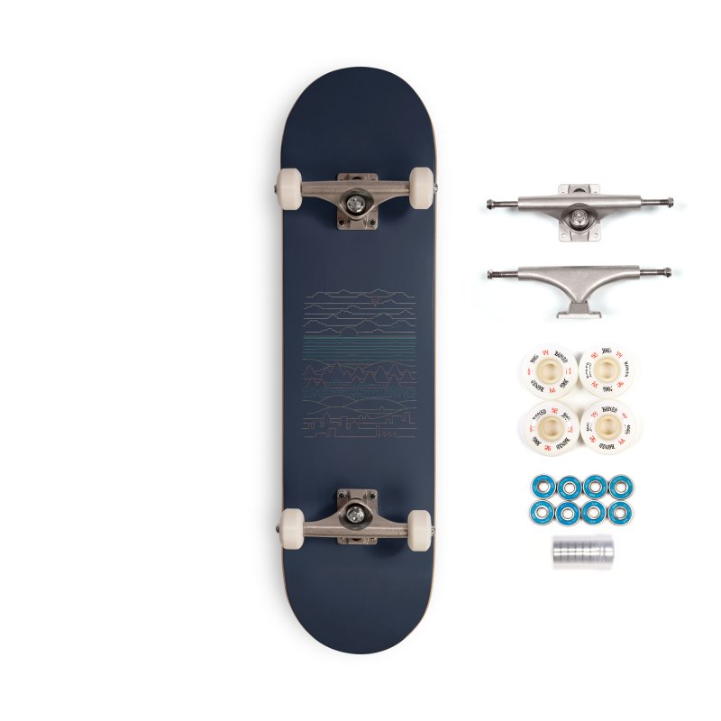 Linear Landscape Accessories Complete - Premium Skateboard by thepapercrane's shop
