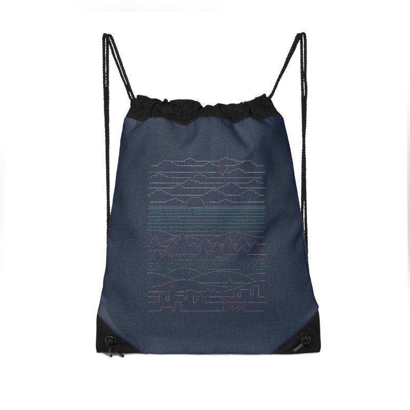 Linear Landscape Accessories Drawstring Bag Bag by thepapercrane's shop