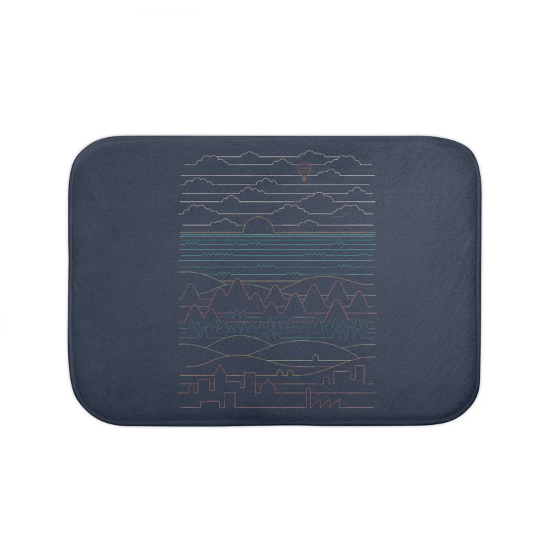 Linear Landscape Home Bath Mat by thepapercrane's shop