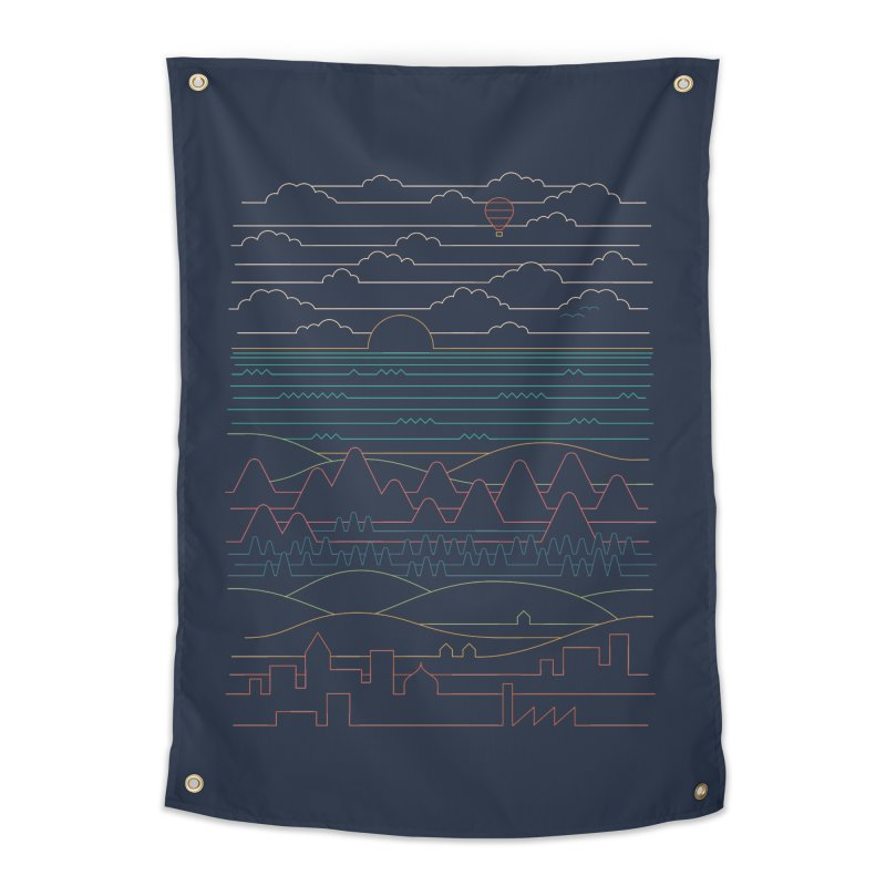 Linear Landscape Home Tapestry by thepapercrane's shop