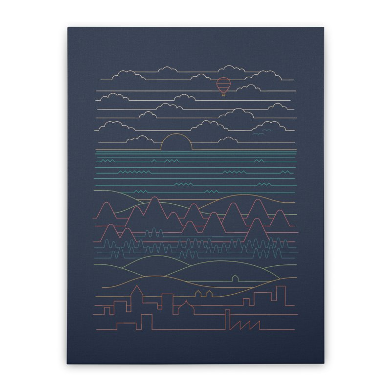 Linear Landscape Home Stretched Canvas by thepapercrane's shop