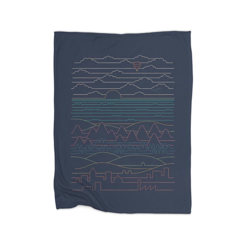 Linear Landscape Home Fleece Blanket Blanket by thepapercrane's shop