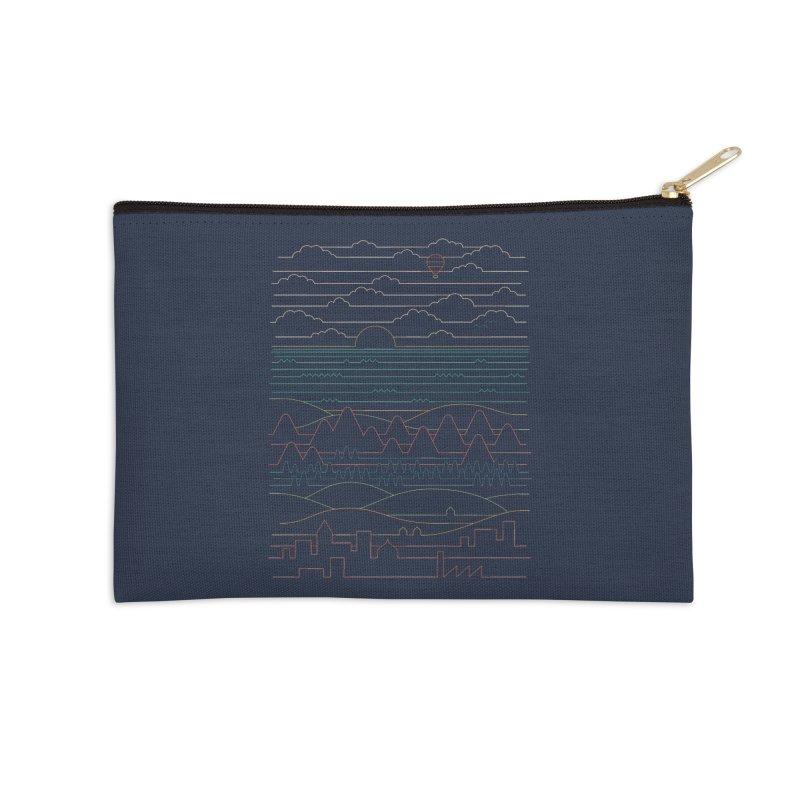 Linear Landscape Accessories Zip Pouch by thepapercrane's shop
