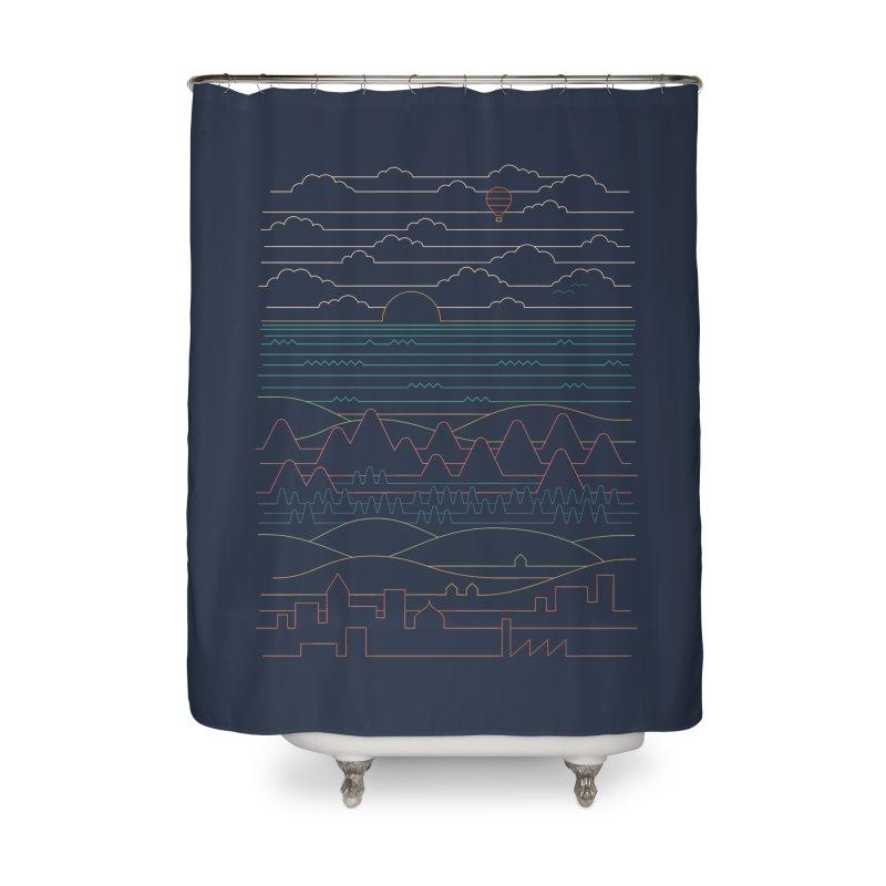 Linear Landscape Home Shower Curtain by thepapercrane's shop
