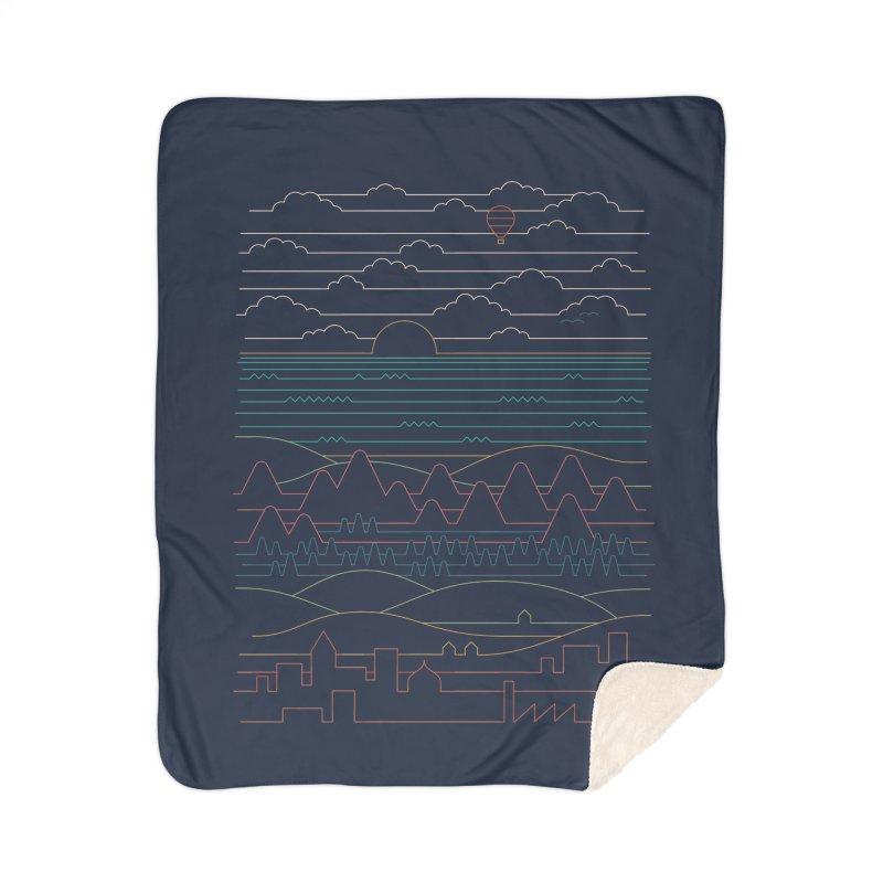 Linear Landscape Home Sherpa Blanket Blanket by thepapercrane's shop