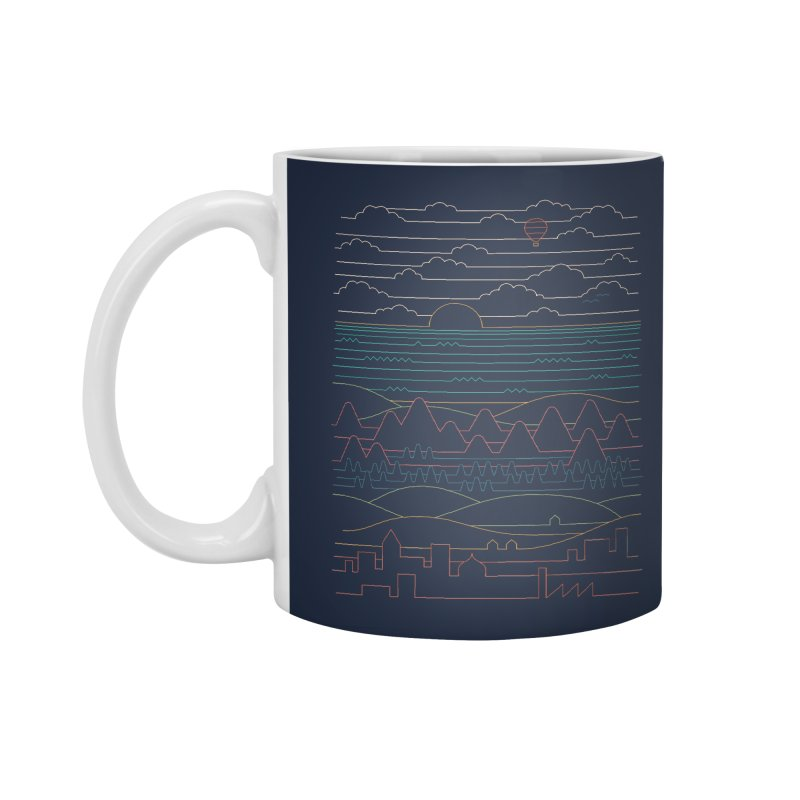 Linear Landscape Accessories Standard Mug by thepapercrane's shop