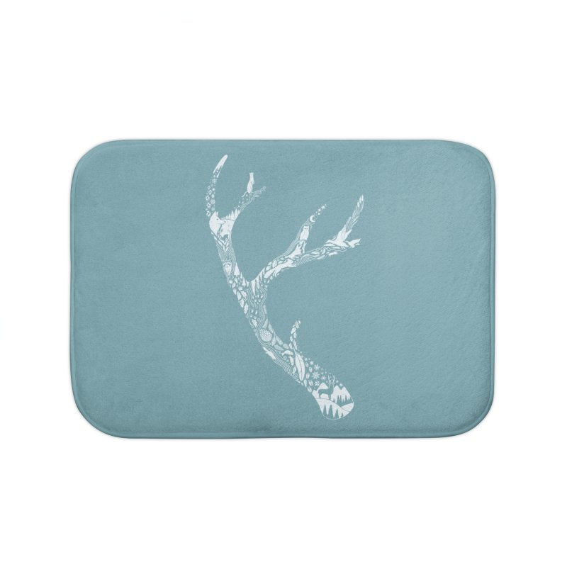 Tracks And Signs Home Bath Mat by thepapercrane's shop