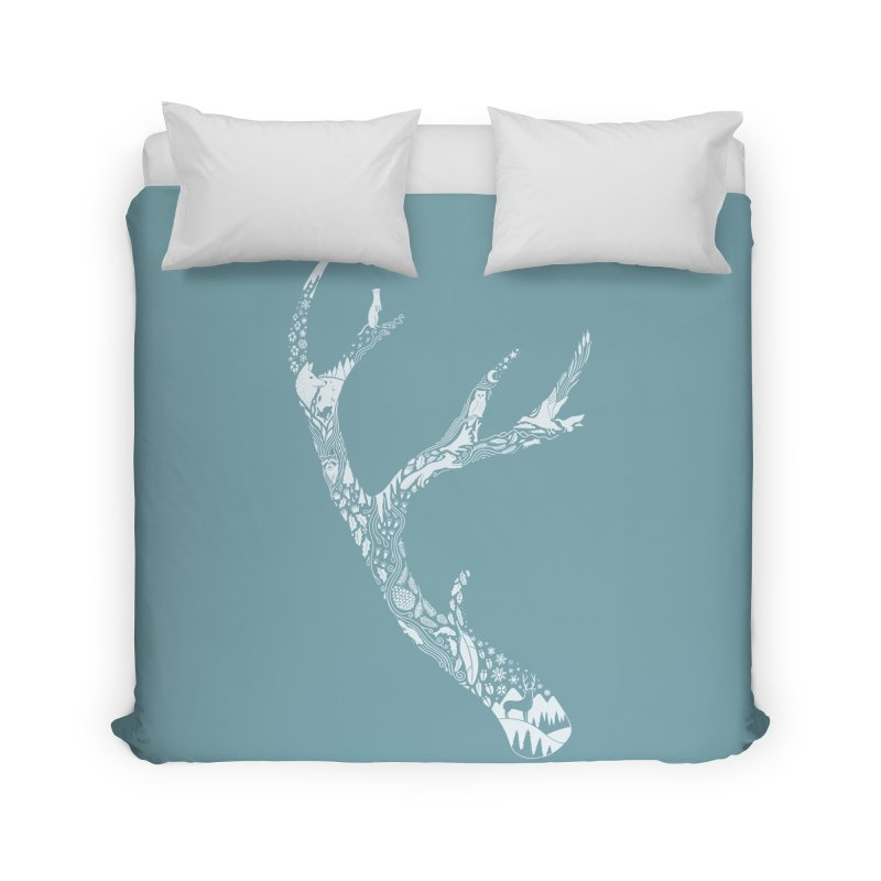 Tracks And Signs Home Duvet by thepapercrane's shop